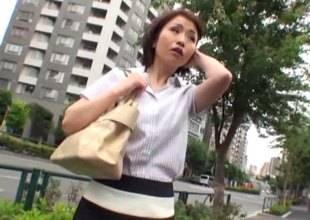 Savory Japanese girl allows the dudes to acquire into her snatch
