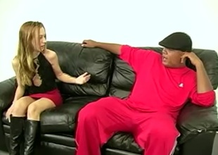 Sexy porn babe Trisha enjoys nice gazoo spanking with a naughty hawt stud