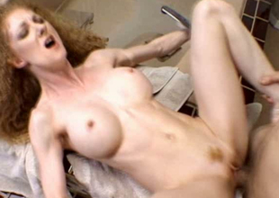 Emotional shaggy red haired bitch wanna receive her hungry cunt fucked