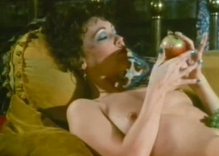 Older mom is engulfing large dick balls unfathomable in retro porn movie scene