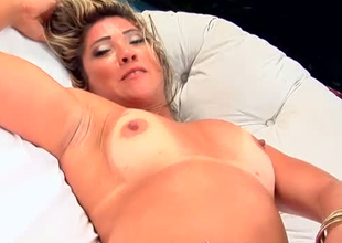 Sassy slut with tan traces is masturbating in Reality Kings video