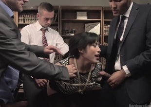 Jailhouse Rod Slut: Judge Mia Li Double Stuffed!