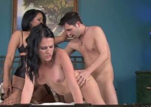 Kris Slater uses his erect boner to bring blowjob addict Kiara Mia to the height of pleasure