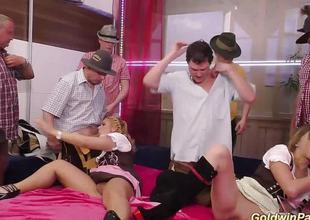 German amateurs drilled in gangbang