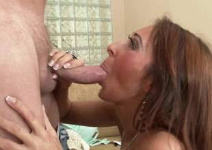 Mark Wood presents hottest pornstar Deanna Dare - the most attractive sexy doll you can imagine. How lewd she is whilst sucking unfathomable his big cock and standing in doggy position to acquire some hard sex