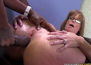 Sexy cougar Darla Crane gets anal from big black c