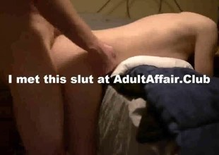 non-professional slut sits on a jock and grinds it real hard