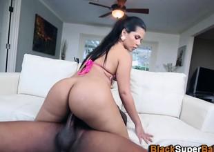 Latina rides black knob